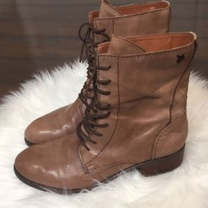 Sam Edelman Karla lace up leather boots 9.5